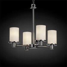 <strong>Justice Design Group</strong> Rondo Fusion 4 Light Chandelier