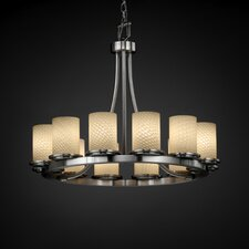 <strong>Justice Design Group</strong> Dakota Fusion 12 Light Short Chandelier