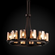 <strong>Justice Design Group</strong> Fusion Dakota 12 Light Ring Chandelier