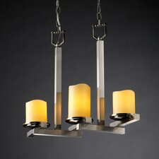 <strong>Justice Design Group</strong> CandleAria Dakota 3 Light Chandelier
