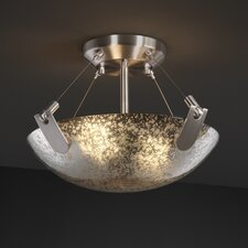 <strong>Justice Design Group</strong> Fusion 2 Light Semi Flush Bowl