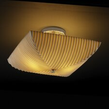 Porcelina Ring 2 Light Semi Flush Mount