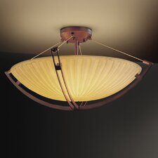Porcelina Crossbar 12 Light Semi Flush Mount