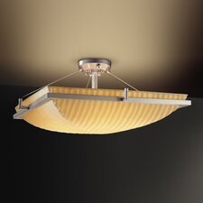 Porcelina Ring 6 Light Semi Flush Mount