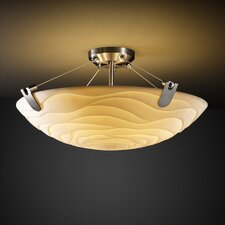 Porcelina U-Clips 6 Light Semi Flush Mount