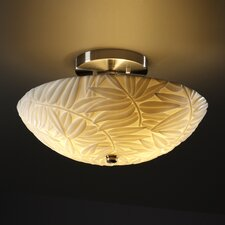 <strong>Justice Design Group</strong> Ring Porcelina Round Semi Flush Mount