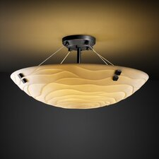 <strong>Justice Design Group</strong> Porcelina Finials 3 Light Semi Flush Mount