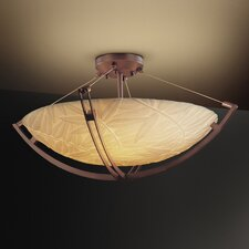 Porcelina Crossbar 8 Light Semi Flush Mount