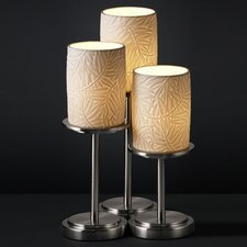 """Limoges Dakota Portable 16"""" H Table Lamp with Drum Shade (Set of 3)"""