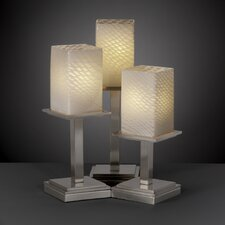 "Fusion Montana 16.75"" H Table Lamp with Rectangle Shade"