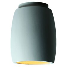 <strong>Justice Design Group</strong> Radiance Curved 1 Light Outdoor Flush Mount