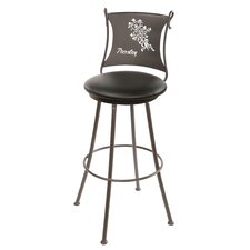 "<strong>Stone County Ironworks</strong> Parsley 25"" Swivel Bar Stool with Cushion"