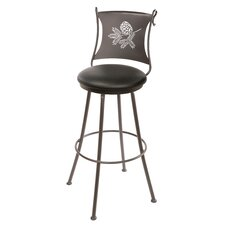 "Pine Cone 25"" Swivel Bar Stool with Cushion"