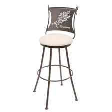 "<strong>Stone County Ironworks</strong> Rosemary 25"" Swivel Bar Stool with Cushion"