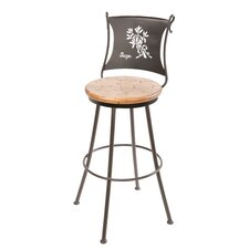 "Sage 25"" Swivel Counter Height Barstool in Distressed Pine"