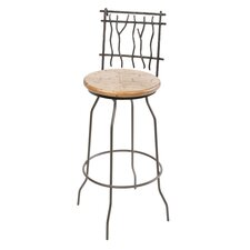 "Sassafras 25"" Swivel Bar Stool with Cushion"