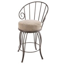 "<strong>Stone County Ironworks</strong> Bella 30"" Swivel Bar Stool with Cushion"