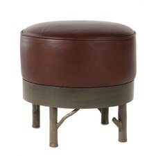 <strong>Stone County Ironworks</strong> Norfork Leather Ottoman
