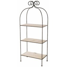 <strong>Stone County Ironworks</strong> Scroll 3-Tier Double Width Standing Tile Shelf