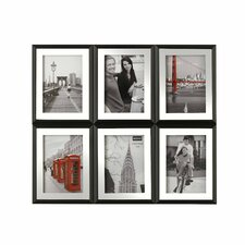 6 Opening Banded Noir Collage Picture Frame