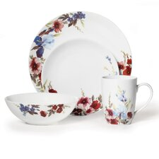 Gourmet Basics Flower Garden 16 Piece Dinnerware Set