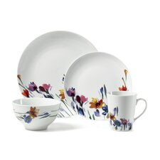 Gourmet Basics Watercolor Garden 16 Piece Dinnerware Set