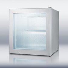 Compact Glass Door Vodka Freezer in Gray