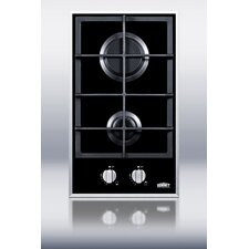 2-Burner Gas-on-Glass Cooktop