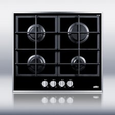 <strong>Summit Appliance</strong> 4-Burner Gas-on-Glass Cooktop