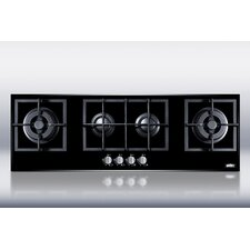 4-Burner Island Gas-on-Glass Cooktop