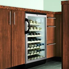 Wine Cellar with Adjustable Wine Shelves in Black