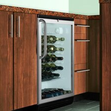 Wine Cellar with Hidden Evaporator in Black