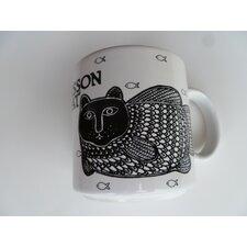 """Vintage French Le Poisson Chat """"Catfish"""" 11 oz. Mug"""
