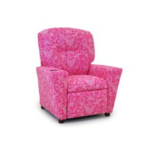 <strong>Kidz World</strong> Small Paisley Candy Pink Kids Recliner