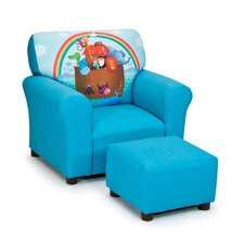 <strong>Kidz World</strong> Truth-B-Told Kids Club Chair and Ottoman