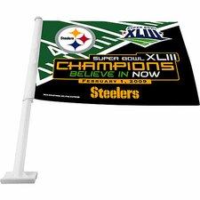 Super Bowl XLV Car Flag
