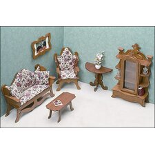 <strong>Greenleaf Dollhouses</strong> Living Room Furniture Kit