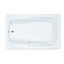 "Basics 60"" x 36"" Integral Skirted Whirlpool Tub with End Drain"