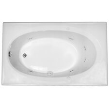 "Basics 59"" x 36"" Rectangular Whirlpool Tub with End Drain"