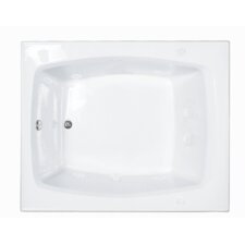 "Basics 59"" x 48"" Rectangular Whirlpool Tub with End Drain"