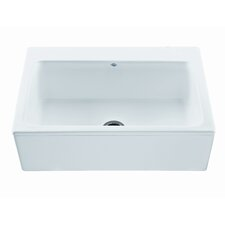 "Reliance 33"" x 22.25"" McCoy Single Bowl Kitchen Sink with Embossed Apron"