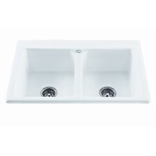 "Reliance 33.25"" x 22.25"" Endurance Double Bowl Kitchen Sink"