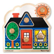 First Shapes Jumbo Wooden Knob Puzzle
