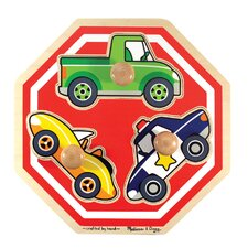 <strong>Melissa and Doug</strong> Stop Sign Jumbo Wooden Knob Puzzle