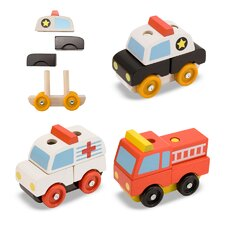 <strong>Melissa and Doug</strong> Stacking Emergency Vehicles Set