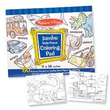 Jumbo Coloring Pad in Blue