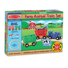 <strong>Melissa and Doug</strong> Farm Animal Train Set
