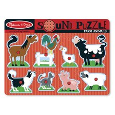 <strong>Melissa and Doug</strong> Farm Animals Sound Puzzle