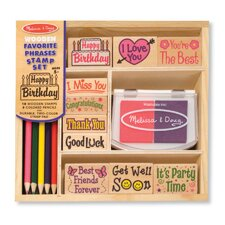 <strong>Melissa and Doug</strong> Favorite Phrases Stamp Set