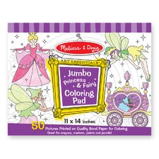 Jumbo Coloring Pad Princess and Fairy